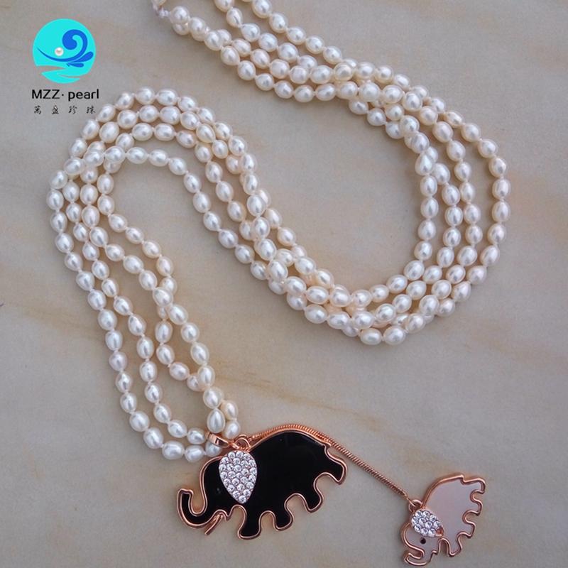 6mm pearl long necklace designs freshwater teardrop pearl