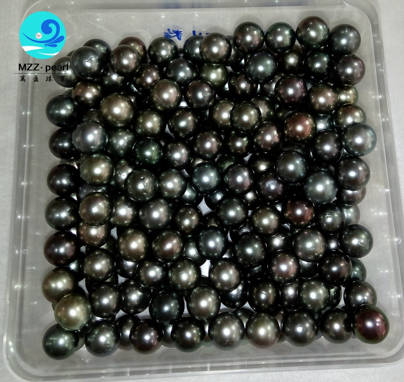c96a5661a loose tahitian pearl beads in bulk sale , aa quality with some defect , but  price very competitive 9-10mm black real saltwater pearl beads wholesale